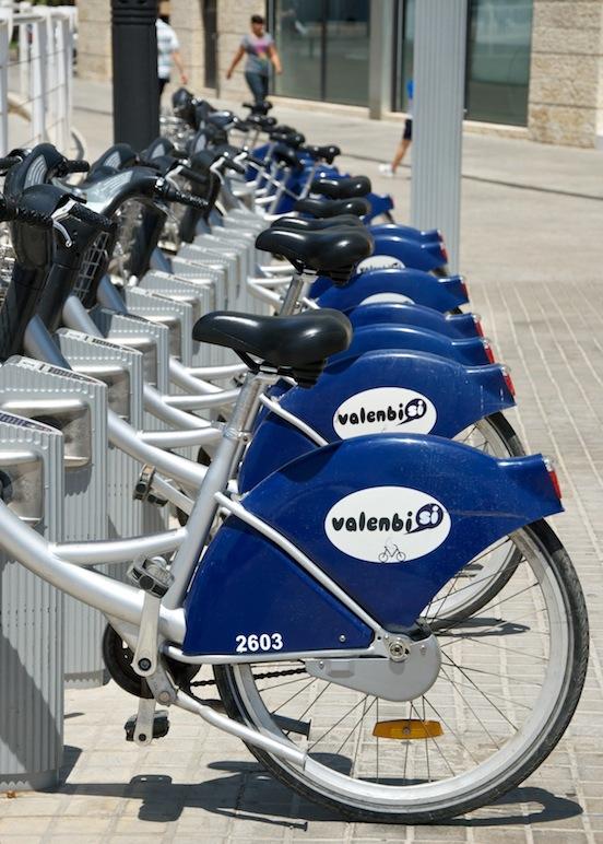Foto delle biciclette dell'Ayuntamiento di Valencia