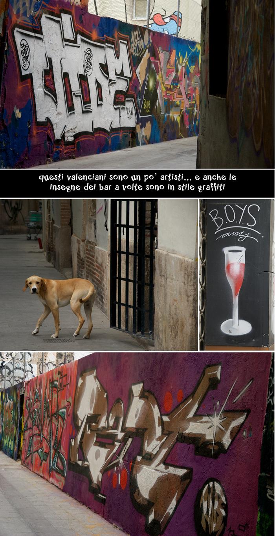 Graffiti e cane, Valencia