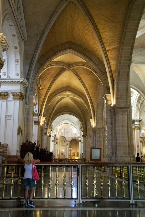 L'interno della cattedrale di Valencia