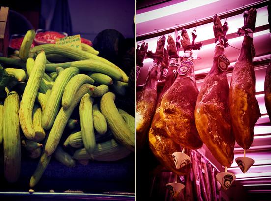 Cetrioli e jamon - mercato di Valencia