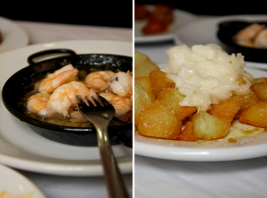 "Gambas  e patatas ali oli a ""Il Kiosko"" - Valencia"