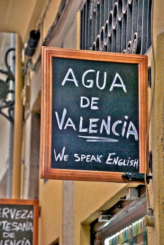Insegna a Valencia -  Agua de Valencia