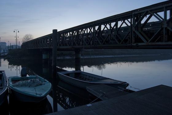 Marano - Ponte di ferro sul canale