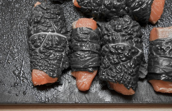 Salmone alla luciferina prima della cottura